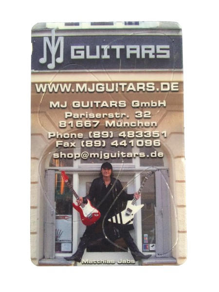 Pickcard MJ Guitars