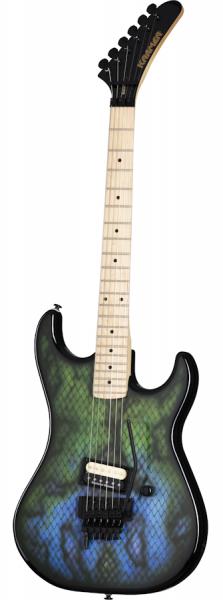 """Kramer Baretta, Custom Graphics, """"Viper"""", Snakeskin Green Blue Fade"""