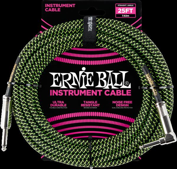 Ernie Ball EB6066 Instrumentenkabel Neongrün