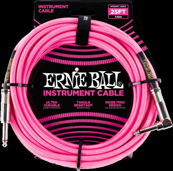 Ernie Ball EB6065 Instrumentenkabel Neon Pink