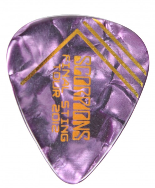Picks Scorpions Final Sting 2012 Violett/Gold