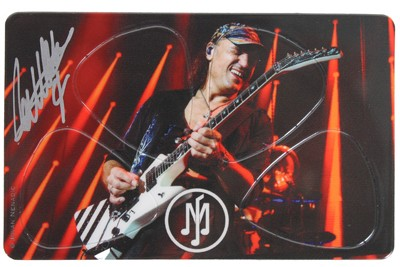 Pikcard MJ Guitars 2016 (original autographed by Matthias Jabs)