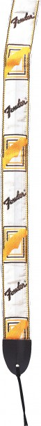 Fender Gurt Monogramm Logo white/brown/yellow