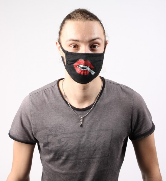 MJ Customized Triple-ply Cotton Face Mask Black