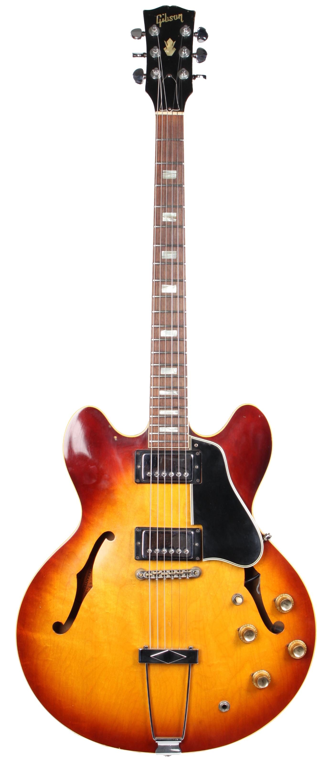 gibson es 335 tea burst 1966 e gitarren vintage mj guitars. Black Bedroom Furniture Sets. Home Design Ideas