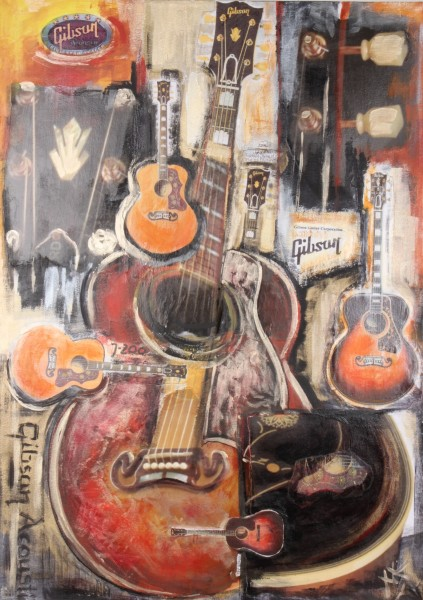 Gitarrencollage Gibson Acoustic M. Küster