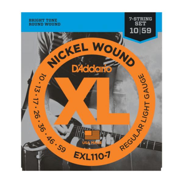 DAddario EXL110-7 Saiten E-Gitarre 7 Saiter