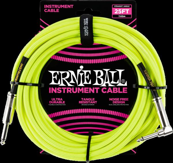 Ernie Ball EB6057 Instrumentenkabel Neon Yell