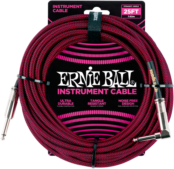 Ernie Ball EB6062 Instrumentenkabel Black/Red