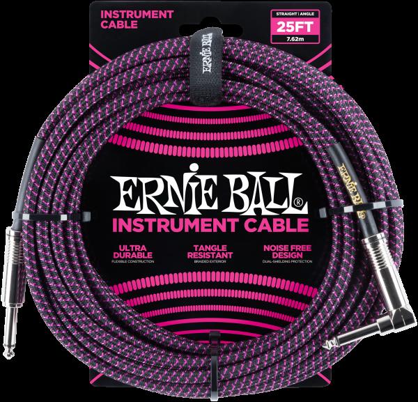 Ernie Ball EB6068 Instrumentenkabel Neonviolett