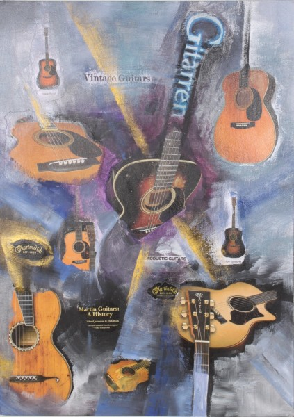 Gitarrencollage Vintage Guitars M. Küster