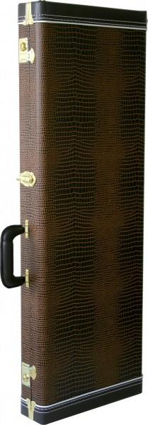 SCC Koffer für Strat/Telecaster Brown Croc