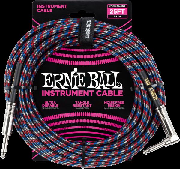 Ernie Ball EB6063 Instrumentenkabel bl/rd/wh