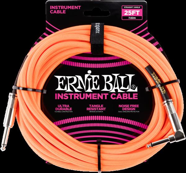 Ernie Ball EB6067 Instrumentenkabel Neonorange